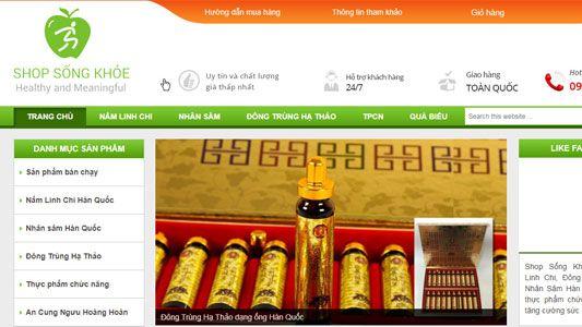 Dự án website bán lẻ Shopsongkhoe.vn