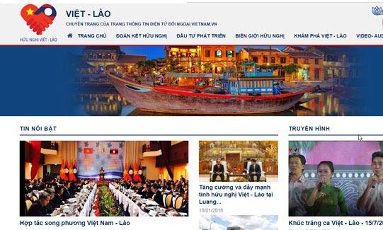 Dự án cổng thông tin hữu nghị Việt - Lào